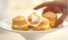 Mini sponge cakes.