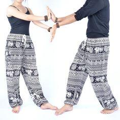 Unisex harem pants Yoga pants Harem pants Rowel by AsianChicShop