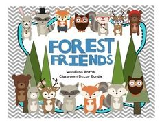 Woodland Forest Animal Theme Classroom Decor Bundle
