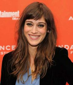 Lizzy Caplan Long Hair with Short Bangs