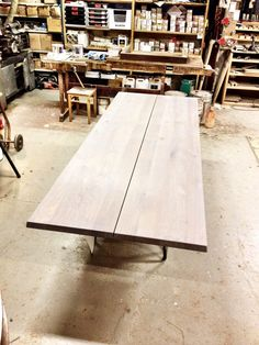 A grey oiled wild oak LowLight Table is getting ready to leave the carpentry. #LowLight #Table #Jacob #Plejdrup www.dk3.dk