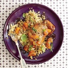 Apricot-Basil Chicken with Freekeh | MyRecipes.com #myplate #protein #fruit #wholegrain