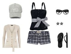 Beach Bonfire by archimedes16 on Polyvore featuring polyvore, fashion, style, Hollister Co., Dorothy Perkins, Old Navy, Jane Norman, Y-3, Marc Jacobs, black and white, fisherman's sweaters, sunglasses, tank tops, flip flops, baseball caps and plaid shorts