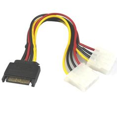 Hot Selling 15 Pin SATA Male to 2 Female 4 Pin Molex Female IDE HDD Power Hard Drive Cable Gift 1pcs Dec 20  — 46.7 руб. —