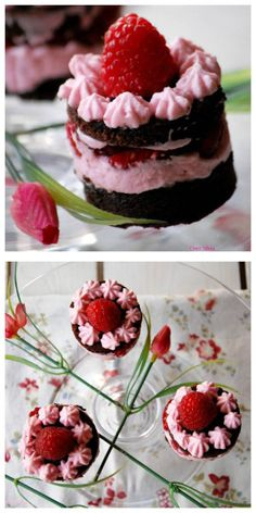 Mini-mousse de chocolate y frambuesa