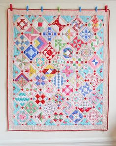 lovely farmer's wife quilt. One day I'll make one of these