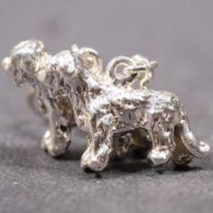 Briard silver EARRINGS (hooks) entire