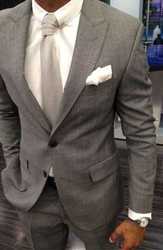Well Suited! Would also work well with a much brighter tie...