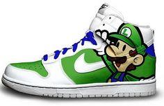 f8f70ab0a58 My son loves luigi Nike Dunks