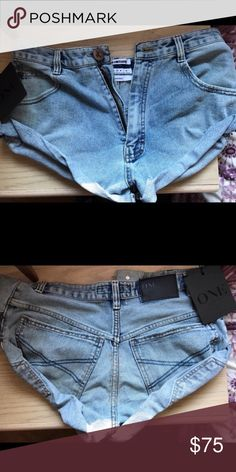 Nwt one teaspoon bandits Jean shorts. Nwt. One teaspoon bandits. Very cute. Purchased on posh but I don't have the body type for these! I wish I did. They are so cute and kind of sexy in a jean shorts way! No trades. One Teaspoon Shorts Jean Shorts