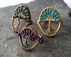 WireWorkers Guild tree of life rings