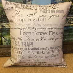 """""""I can see your dirty pillows. Everyone will."""" Margaret White, Carrie. These movie quote pillows are great for any filmophile! Give them as a"""
