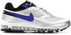 NIKE, Air max sneakers, Silver, Luisaviaroma - Inspired by the original Air Max 97 and Air Max BW sneakers. Nike Air Max, Air Max 97, Leather Pumps, Black Leather, Air Max Sneakers, Sneakers Nike, Nike Trainers, Purple Nikes, Nike Outfits
