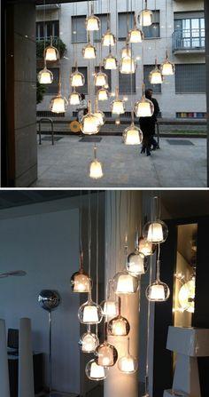 Italienische, kreisförmige Hängelampen von Penta: GLO  - #Lampen