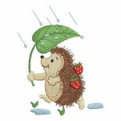 Adorable Hedgehog 07 machine embroidery designs