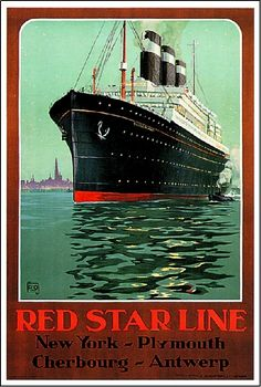 1920s Red Star Line Ocean Liner Art