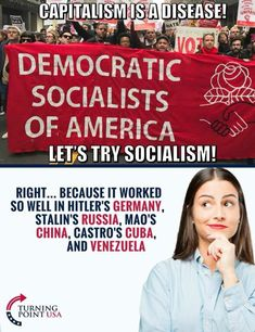 The sheer IGNORANCE of these people that think America needs socialism., they need to go try it out in another country and stay there Liberal Hypocrisy, Liberal Logic, Socialism, Communism, Politicians, Political Memes, Political Views, Truth Hurts, It Hurts