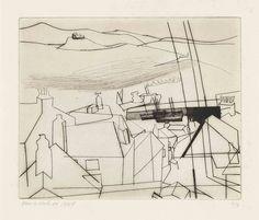 Newlyn, Ben Nicholson, from Alan Cristea catalogue Line Drawing, Painting & Drawing, Abstract Landscape, Abstract Art, Art Postal, English Artists, Gravure, Art Sketchbook, Artist At Work