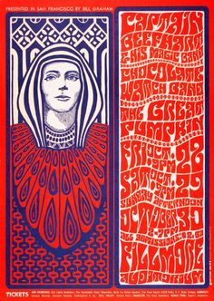 Wes Wilson: poster promoting Captain Beefheart and His Magic Band, Chocolate Watchband, The Great Pumpkin, October 28-30, 1966 at Fillmore Auditorium, San Francisco