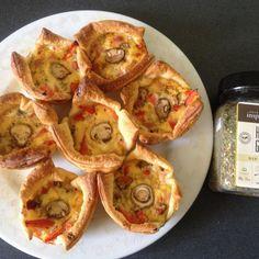 Your Inspiration At Home Savoury Mini Quiche. #YIAH #Herb & Garlic www.yourinspirationathome.com.au