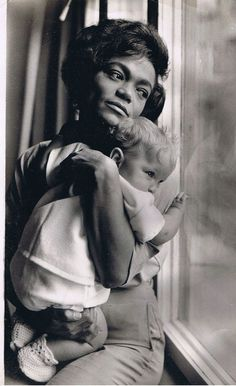 "Eartha Kitt and daughter Kitt McDonald photographed for Ebony magazine by Moneta Sleet, 1962. Miss Kitt made her priorities very clear during the interview: ""My baby travels with me."""