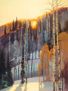 Stephen Quiller 4:45 PM, January 10, Bachelor Crest 43 1/2 X 33 1/2