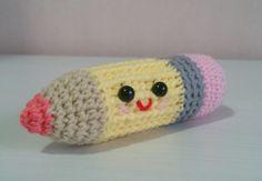 Crochet pencil amigurumi stuffed toy pencil plush by ohpeach