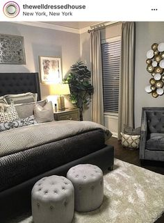 Bedroom Ideas, An astounding and breathtaking collection of decor inspirations. Article help note found at bedroom decor glam, pinned on 20190220 Home Decor Bedroom, Bedroom Furniture, Cozy Master Bedroom Ideas, Glam Master Bedroom, Master Room, Wooden Furniture, Bedroom Wall, Home Interior, Interior Design