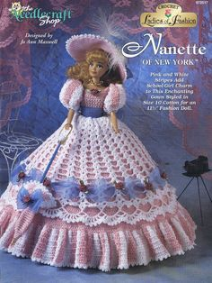 NEEDLECRAFT FASHION DOLL CROCHET PATTERN LADIES OF FASHION NANETTE OF NEW YORK | eBay