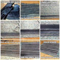 Easy step-by-step instructions on how to make a rug out of old jeans!