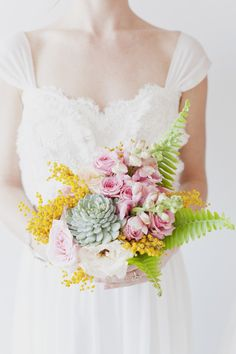 Delicate & Romantic #Bouquet | See the full inspiration on Style Me Pretty:  http://www.stylemepretty.com/canada-weddings/ontario/toronto/2012/05/16/toronto-pastel-photo-shoot-by-vicky-starz-photography-sweet-woodruff/  Vicky Starz Photography