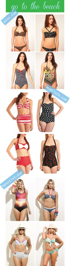 vintage inspired bathing suits