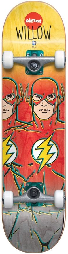 Almost Willow Flash Fade DC Comics 6.75 Complete Skateboard - view large