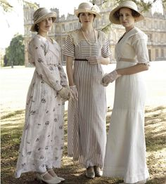 Downton Abbey - yes, it's dated but I still love the fashion on this show.  Even after learning that they are re-using costumes from shows we have been watching for decades!