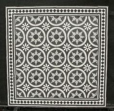 Portugese tegels,cementtegels CIRCLEZ 2 in combinatie met Border 20-F18 uit de collectie van www.floorz.nl. Encaustic floor tiles, cement tiles FLOORZ collection