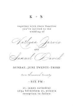 Modern Vintage - Wedding Invitation #invitations #printable #diy #template #wedding Vintage Wedding Invitations, Wedding Invitation Templates, Modern Vintage Weddings, Response Cards, Text Messages, Printable, Diy, Bricolage, Handyman Projects