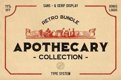 Apothecary Collection (Font Bundle) by BART.Co Design on @creativemarket
