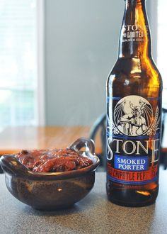 Stone Smoked Porter Chili and Buttermilk Cornbread - Sarah and The Beard