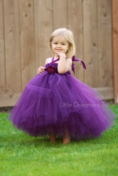 Perfectly beautiful little girl in her purple tutu