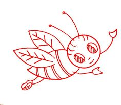 free vintage bee embroidery patterns