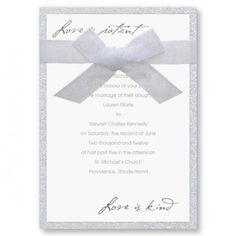 Love Is Patient Clic Wedding Invitations Framed Invitation