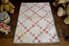 Antique Hand Stitched Nine Patch Doll's Quilt , 19 x 13.5 in., eBay, bgrboots