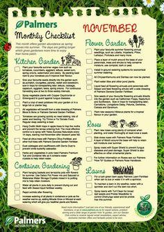 November Monthly Checklist #PalmersGardenCentre