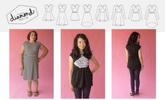 What a fun top for knits! There's also a dress version with a flared skirt. (Pattern Anthology - The original sewing pattern design collaboration)