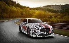 Descargar fondos de pantalla Jaguar XE SV Proyecto 8, carretera de 2017, los coches, tuning, supercars, Jaguar
