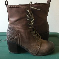 "Seychelle Brown Lace Up Heeled Combat Boots Seychelles ""Women Could Be Boot"" - brown faux leather lace up combat/granny boot. Never worn! Seychelles are know for their comfort and high quality. Seychelles Shoes Combat & Moto Boots"