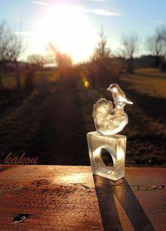 Ice resin heart ring