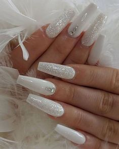 26 Simple Fall Nails Art Design for women over 40 # fashionaccessories . - 26 Simple Fall Nails Art Design for women over 40 # fashionaccessories – – # - White Coffin Nails, Coffin Nails Long, Long Nails, Stiletto Nails, Short Nails, Long White Nails, White Gel Nails, White Toes, Neutral Nails