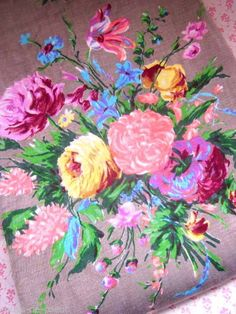 Beautiful 1950's French  Florals  - 2 Metres