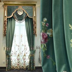 If you want the curtain like the picture, you need to buy 2 blackout curtain and 2 tulle and 1 valance. T he valance can be Velcro (paste) or Rod pocket. Other Width curtain. Tulle Curtains, Green Curtains, Cool Curtains, Modern Curtains, Curtains With Blinds, Blackout Curtains, Curtain Valances, Window Drapes, Panel Curtains